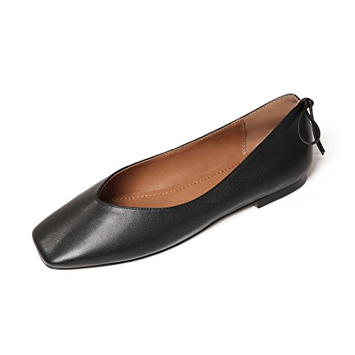 Flat Mouth Head Black Casual Women's Square Shoes Shallow zwtWfX