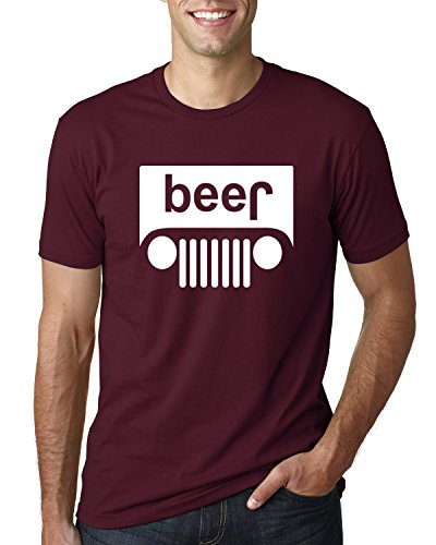 (Wild Bobby Beer Logo | Cars and Trucks Parody Humor Alcohol | Mens Drinking Tee Graphic T-Shirt, Maroon White, X-Large)