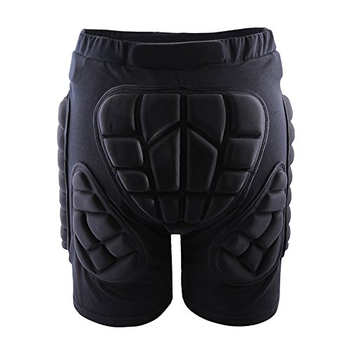 Hockey Hip Pads (West Biking 3D Padded Shorts Protective Hip Butt Pad Ski Skate Snowboard Skating Skiing Hockey Riding Impact Protection Drop Resistance Roller Derby Compression Pants XL)
