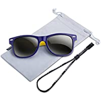 RIVBOS Rubber Kids Polarized Sunglasses With Strap Glasses for Boys Girls Baby and Children Age 3-10 RBK004