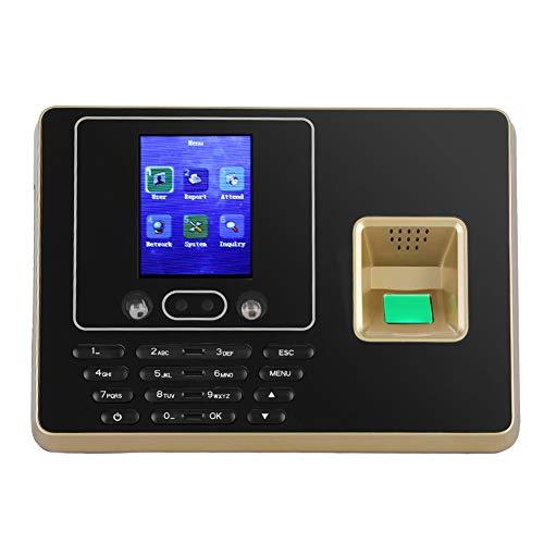 Sonew Attendance Machine,Face Fingerprint Password Attendance Machine,Employee Management Alarm Clock,DC5V, 2.8inches TFT LCD Screen(US Plug)