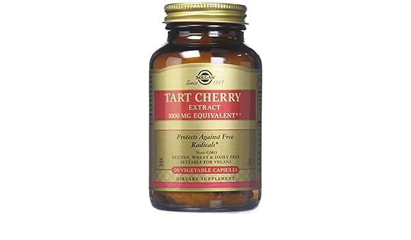 Tarta de cerezas, 1000 mg, 90 Caps Veggie - Solgar: Amazon.es: Salud y cuidado personal