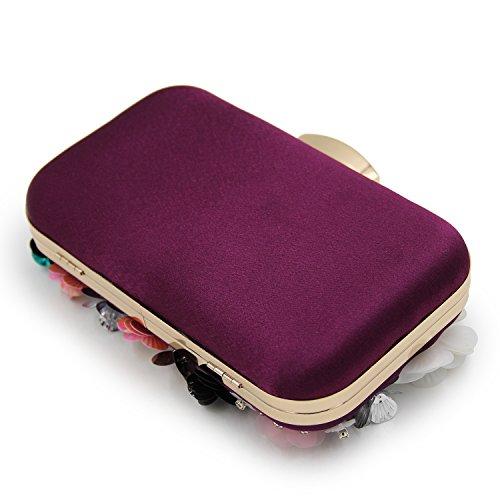 HT, Poschette giorno donna viola Purple