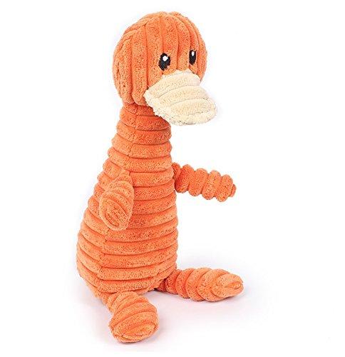 Stock Show 1Pc Pet Squeak Toy, Plush Orange Platypus/Grey Rh