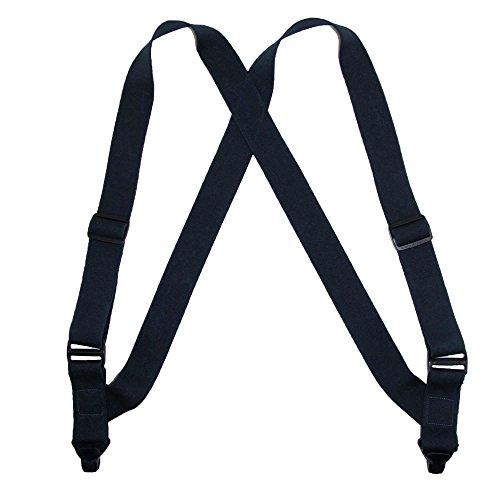 CTM Mens Elastic Side Plastic Clip TSA Compliant Airport Suspenders