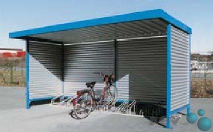 #POV® Fahrradüberdachung Modell Leipzig L14 Einseitig#
