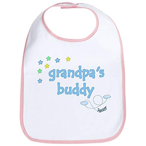 (CafePress Grandpa's Buddy Star Pilot Bib Cute Cloth Baby Bib, Toddler Bib)