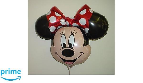 34 Minnie Mouse Globo de Hoja de metal Formado con Arco Rojo: Amazon.es: Juguetes y juegos