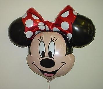 34 Minnie Mouse Globo de Hoja de metal Formado con Arco Rojo