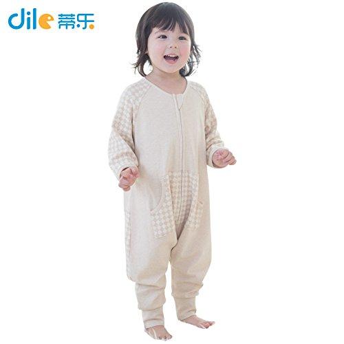 Dele Baby Sleepsiut Cotton Striped Kid Sleep Bag Long-sleeve Letter Pattern Children Sleep Rompers (M, Star)