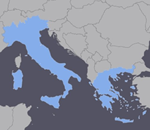 Italy and Greece GPS Map 2018 for Garmin Devices