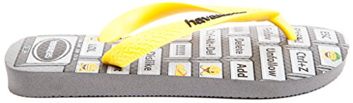H4137119 Grey yellow 37 9573 40 Steel Havaianas 38 39 Br Eu dqwHEdf