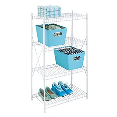 Honey-Can-Do SHF-05270 4-Tier Storage Shelf, 23.3  x 13  x 41 , White