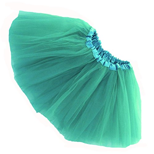 [Southern Wrag Company LITTLE GIRLS TUTU - SHORT - BABY to 6X (TODDLER: 9in Long, JADE)] (Girls Jade Princess Costumes)