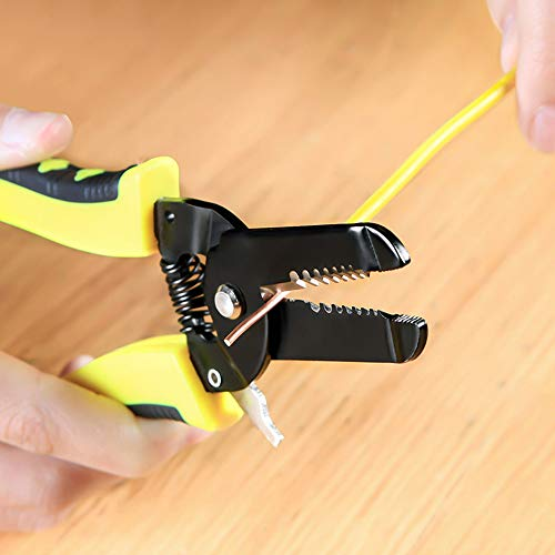 Euone  Stripping Plier, Pro Wire Cable Striper Cutter Stripper Crimper Pliers Terminal Electrical Tool