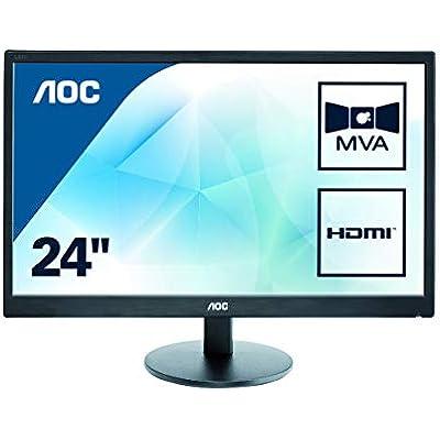 AOC M2470SWH 23 6  Widescreen MVA LED Black Multimedia Monitor  1920x1080 5ms VGA 2xHDMI