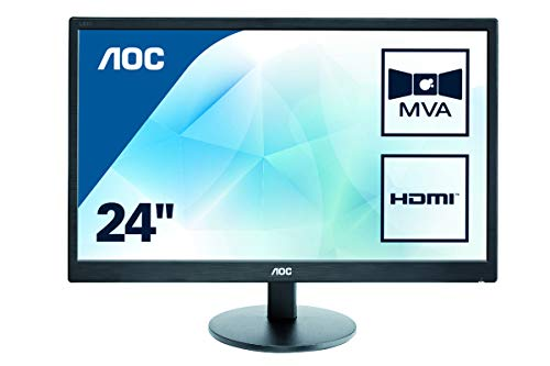 AOC M2470SWH 23.6' Widescreen MVA LED Black Multimedia Monitor...