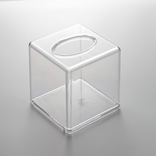Transparent Clear Acrylic Tissue Box Cover (Square)