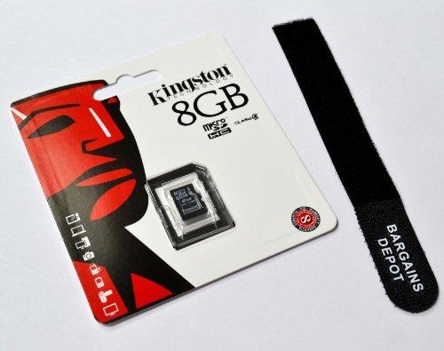 (Bargains Depot® Products - Genuine Kingston 8 GB 8gb (8 Gigabyte) Class 4 MicroSDHC Micro Secure Digital High Capacity Flash Memory Card SDC4/8GBSP for LG Cell phone / Tablet Compatible : LG P509 Burgundy // LG P930 // LG P940 // LG P990 Optimus Speed // LG P990 Star // LG Phoenix // LG Prada 3.0 // LG Revolution // LG Revolution 2 // LG Rumor Reflex LN272 // LG S365 // LG Snapshot U.S. Cellular // LG Spectrum II 4G VS930 Verizon // LG Spectrum VS920 // LG Splendor US730 // LG Surf 4GB // LG T370 Cookie Smart // LG T375 Cookie Smart // LG T385 // LG T505 // LG Tegra 2 // LG Thrill 4G P925 AT&T // LG Thrive AT&T // LG US760 Genesis US Cellular // LG Viper 4G LTE LS840 Sprint // LG Vortex VS660 Verizon // LG VS910 Verizon // LG Vu Plus AT&T // LG Wink 3G T320 // LG Xpression C395 AT&T // Lucid 4G Verizon + FREE GIFT)