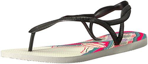 Havaianas Women's Luna Print Sandal, White 37/38 BR (7/8 M US)