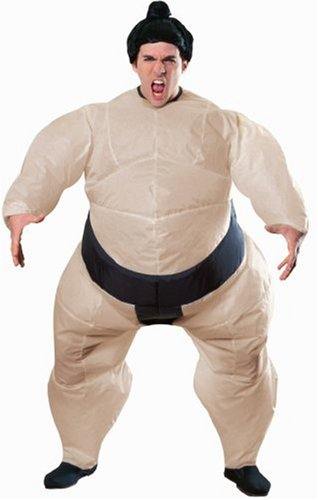 Rubie's Costume Inflatable Sumo Costume with Battery Operated Fan, One Size