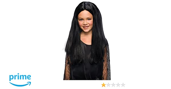Amazon.com: Rubies Addams Family Childs Morticia Costume Wig: Toys & Games