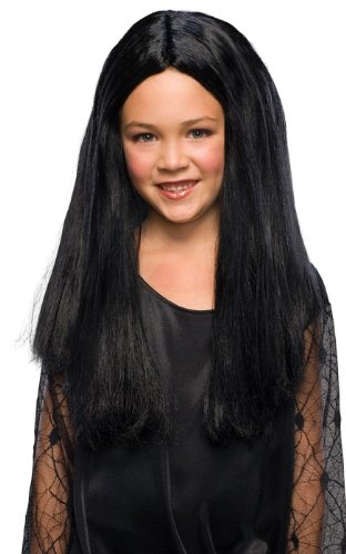 Morticia Costume Amazon (Addams Family Child's Morticia Costume Wig)