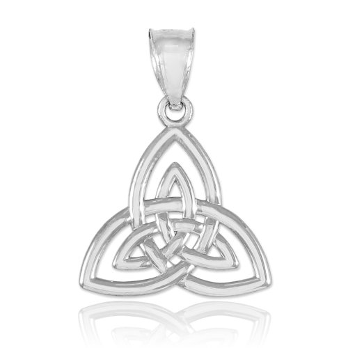 925 Sterling Silver Celtic Knot Charm Triquetra Pendant (Celtic Womens Charm)