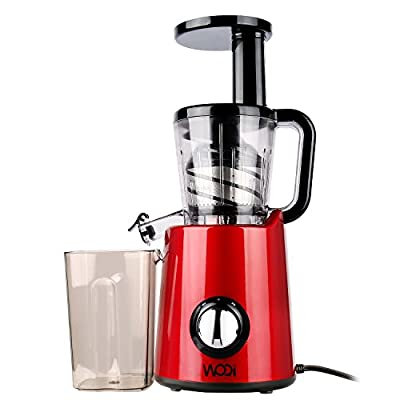 Juice Extractor WOQI Juicer Slow Masticating Juicer Professional Cold Press Juicer ANTI Oxidation Juice Maker Machine With Juice Jug and Cleaning Brush for Healthy Diet