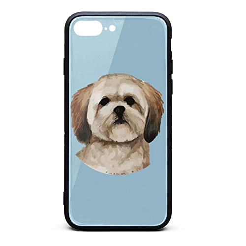 Lanmeip Lhasa Apso Dog iPhone Case for iPhone 7 Plus/8 Plus with Design for Girls Men Women TPU Frame for 5.5