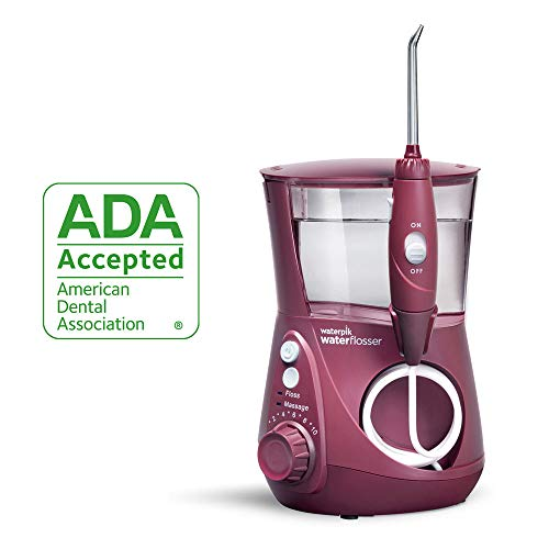Waterpik Water Flosser Electric Dental Countertop Oral Irrigator for Teeth - Aquarius Professional, WP-669 Deep Burgundy from Waterpik