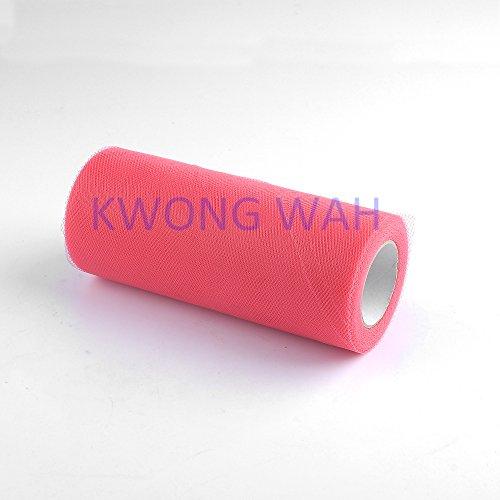 Kwong Wah 6inch x 25 Yard (75 Feet) Tulle Roll Spool Tutu Dress Decoration -