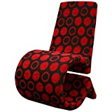 Forte Red and Black Patterned Fabric Accent Chair