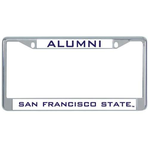 San Francisco State Alumni Metal License Plate Frame in Chrome 'Alumni'