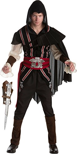 Ezio Auditore Costume (Assassin's Creed II Ezio Auditore Assassin Classic Men's Costume Bundle Large 44)