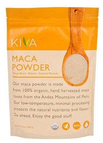 Maca Powder 16 Oz Bag (Kiva Organic Maca Powder - Non-GMO, RAW and Vegan (16-Ounce) -- LIMITED TIME SALE PRICE!!)