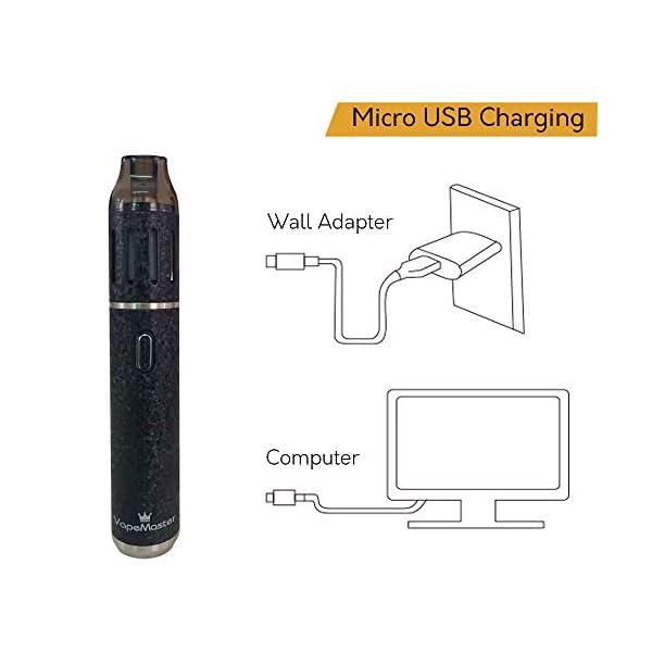 Deluxe Dry Herb Vaporizer Pen, VapeMaster Skywalker Portable Herbal Vaporizer – New Baking Tech, Ceramic Chamber,Temperature Control, Pure Clean Vapor