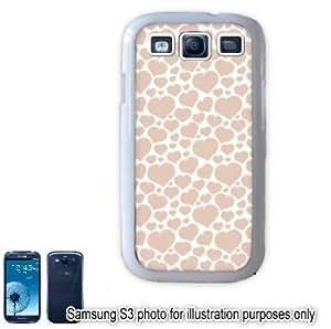Pastel Pink Mini Hearts Love Monogram Pattern Samsung Galaxy S3 i9300 Case Cover Skin White