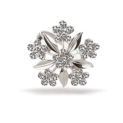 Flower Napkin Rings Holders Set of 4 Silver Wedding Holiday Christmas Thanksgiving, Dinner Parties Home Table Decoration (Flower Silver, 4)