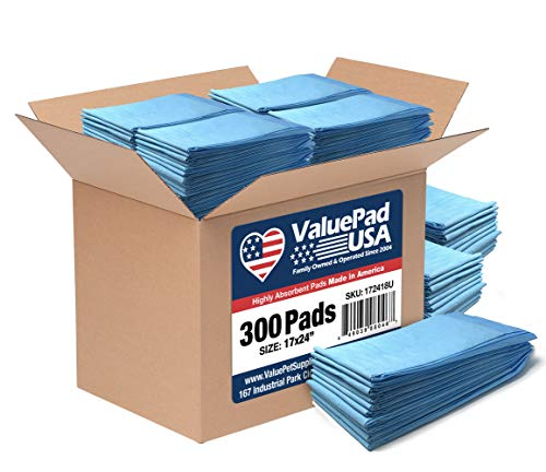 ValuePad USA Puppy Pads, Small 17x24 Inch, Economy, 300 Count
