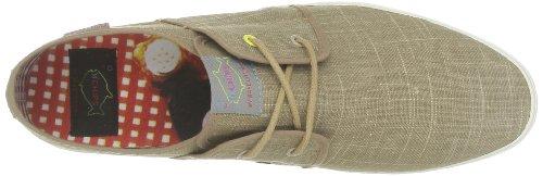Fish 'N' Chips by Base London - Zapatillas de deporte de tela para hombre Beige (Beige (Sand))