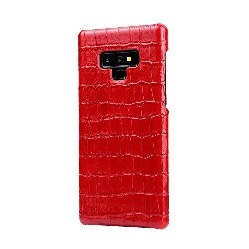 Samsung Galaxy Note 9, Aroko Luxury Crocodile Pattern Design Elegant Vintage Genuine Real Premium Cow Leather Protective Bumper Back Cover Case Shell for Samsung Galaxy Note 9