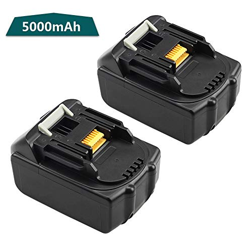 BL1850 Replace for Makita 18V Battery 5.0Ah LXT Lithium-Ion Batteries(2 Packs)