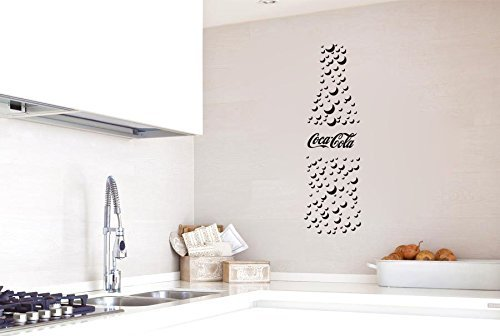Coca Cola Coke Bottle Bubbles Silhouette Vinyl Wall Words Decal Sticker Graphic (Textured Bubbles)