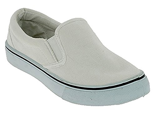 Schuhzoo - Damen Canvas Sneaker Classic Slipper Weiß