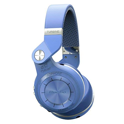 BluedioT2S Bluetooth 4.1 Headphone Wireless Stereo Mic Foldable Headset (Blue)