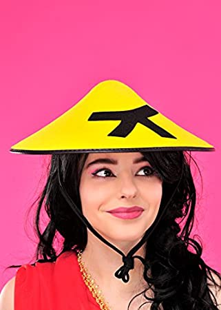 Adult Chinese Fancy Dress Yellow Coolie Hat  Amazon.co.uk  Toys   Games f28f769d2ae0