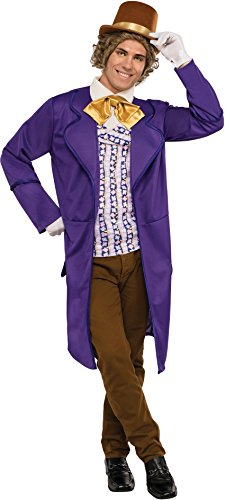 [Rubie's Men's Chocolate Factory Deluxe Willy Wonka Costume, Multi, Standard] (Willy Wonka Costume)