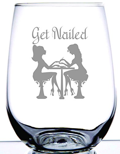 IE Laserware Manicurist Put Some Polish On It! - This GET NAILED Stemless Wine Glass IS The Perfect Gift For Your Fingers & Toes SPECIALIST!