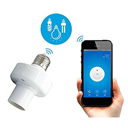 ZHENWOCAI E27 LED Wifi Light Bulb Smart APP Holder Base Socket